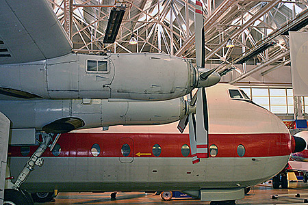 XP411 at Cosford museum